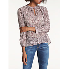 Buy Hartford Heloirse Floral Print Blouse, White/Eggplant Online at johnlewis.com