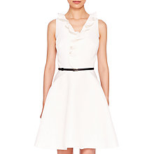 Buy Ted Baker Qwinn Pleated Neck Tie Dress, Ivory Online at johnlewis.com