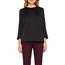 Buy Ted Baker Haanaah Bell Sleeved Jumper, Black Online at johnlewis.com