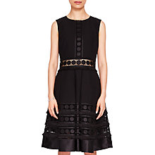 Buy Ted Baker Lace Textured Detail Dress Online at johnlewis.com