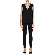 Buy French Connection Classic Crepe Sleeveless Blouse, Black Online at johnlewis.com