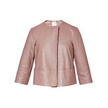 Buy Ted Baker Rennay Leather Collarless Jacket Online at johnlewis.com