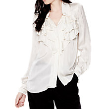 Buy Ghost Lexi Blouse, Chalk White Online at johnlewis.com