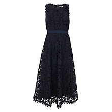 Buy Mint Velvet Lace Full Dress, Dark Blue Online at johnlewis.com