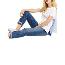 Buy Oasis Stripe Back T-Shirt, White/Blue Online at johnlewis.com