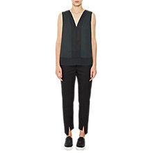 Buy French Connection Classic Crepe Sleeveless Top, Ink Green Online at johnlewis.com