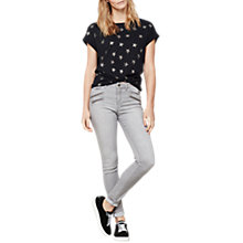 Buy Mint Velvet Metallic Star T-Shirt, Dark Blue Online at johnlewis.com