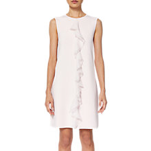 Buy Ted Baker Livasa Frill Front Knitted Dress, Nude Pink Online at johnlewis.com