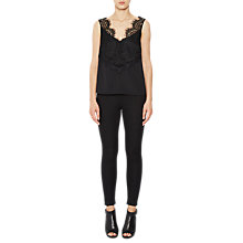 Buy French Connection Crop Sleeveless V-Neck Top, Black Online at johnlewis.com