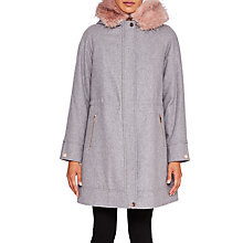 Buy Ted Baker Kalissa Wool Cashmere Blend Parka, Light Grey Online at johnlewis.com