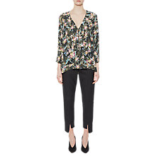 Buy French Connection Delphine Crop V Neck Top, Olive Dusk/Multi Online at johnlewis.com