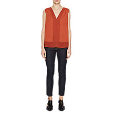 Buy French Connection Classic Crepe V Neck Top, Copper Coin Online at johnlewis.com