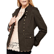 Buy Mint Velvet Washed Military Jacket, Khaki Online at johnlewis.com