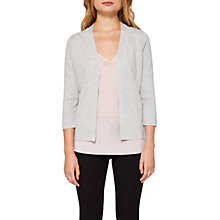 Buy Ted Baker Chelsea Wrap Cardigan, Light Grey Online at johnlewis.com