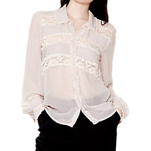Buy Ghost Leone Lace Shirt, Nude Online at johnlewis.com