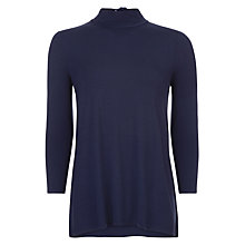 Buy Hobbs Olivia Top, Navy Online at johnlewis.com