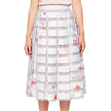 Buy Ted Baker Chelsea Print Skirt, White/Multi Online at johnlewis.com