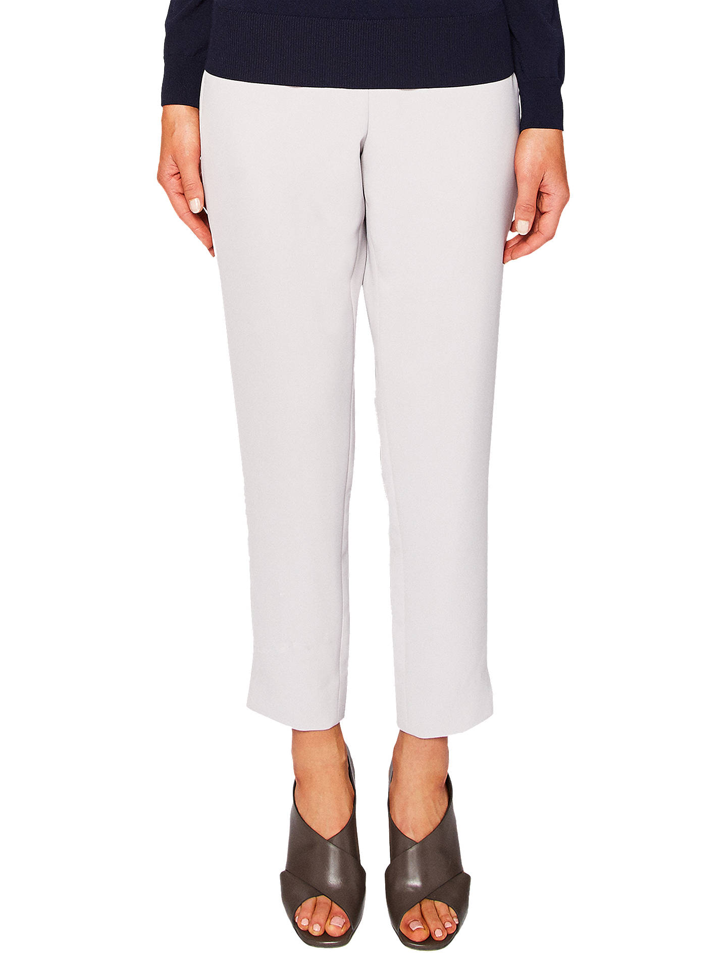 BuyTed Baker Rutti Tapered Ankle Grazer Trousers, Light Grey, 0 Online at johnlewis.com