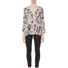 Buy French Connection Delphine Crepe Long Sleeve Blouse, Pink Opal Multi Online at johnlewis.com