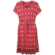 Buy Fat Face Eliza Rustic Aztec Dress, Red Online at johnlewis.com