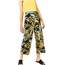 Buy Warehouse Tropical Culottes, Black Online at johnlewis.com