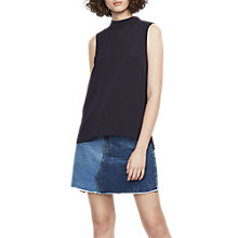 Buy French Connection High Neck Top, Utility Blue Online at johnlewis.com