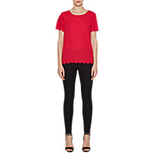Buy French Connection Classic Crepe Round Neck Top, Watermelon Online at johnlewis.com