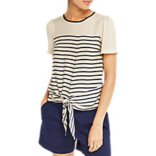 Buy Oasis Stripe Tie Front T-Shirt, Multi Online at johnlewis.com