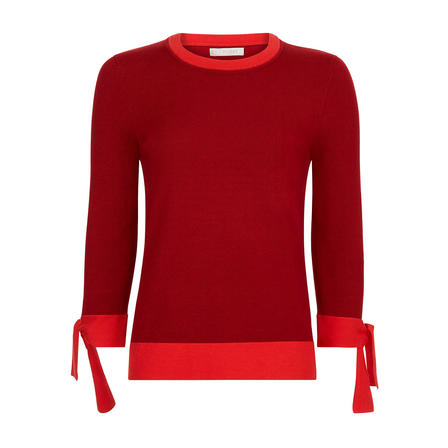 BuyHobbs Kirby Jumper, Red, XS Online at johnlewis.com