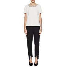 Buy French Connection Eliza Crepe Top, Winter White Online at johnlewis.com