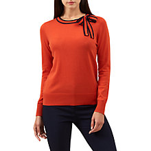 Buy Hobbs Poppy Sweater, Orange/Navy Online at johnlewis.com