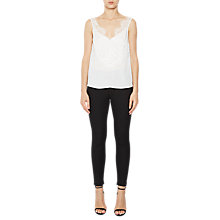 Buy French Connection Classic Crepe Sleeveless Top, Winter White Online at johnlewis.com