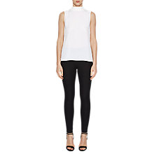 Buy French Connection High Neck Top, Winter White Online at johnlewis.com
