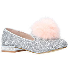 Buy Mini Miss KG Children's Mini Lap Shoes, Silver Glitter Online at johnlewis.com