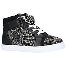 Buy Mini Miss KG Children's Jewel Shoes, Black Online at johnlewis.com