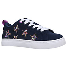 Buy Mini Miss KG Children's Galactic Star Trainers, Navy Online at johnlewis.com