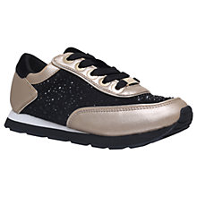 Buy Mini Miss KG Children's Mini Lemmy Trainers, Black/Gold Online at johnlewis.com
