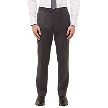Buy Jaeger Staggered Weave Regular Fit Suit Trousers, Dark Grey Melange Online at johnlewis.com