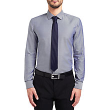 Buy HUGO by Hugo Boss C-Jenno Herringbone Slim Fit Shirt, Navy Online at johnlewis.com