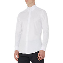 Buy Reiss Jordan Collar Bar Slim Fit Shirt, White Online at johnlewis.com