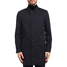 Buy HUGO by Hugo Boss Mitel Water Repellent Slim Fit Mac, Dark Blue Online at johnlewis.com