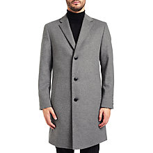 Buy HUGO by Hugo Boss C-Stratus Overcoat, Open Grey Online at johnlewis.com