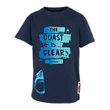 Buy Fat Face Boys' Coast Is Clear T-Shirt, Navy Online at johnlewis.com