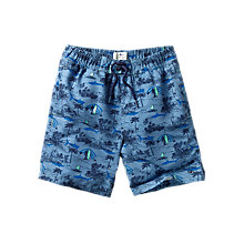 Buy Fat Face Resort Boys' Boardie Swim Shorts, Blue Online at johnlewis.com