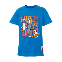 Buy Fat Face Boys' Monster Mix Grid T-Shirt, Blue Online at johnlewis.com