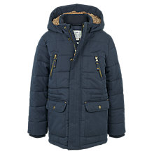 Buy Fat Face Children's Salcombe Parka Jacket, Navy Online at johnlewis.com