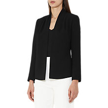Buy Reiss Sancia Pleated Shoulder Jacket, Black Online at johnlewis.com