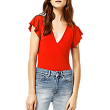 Buy Warehouse Frill Wrap Body Online at johnlewis.com