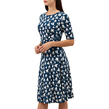 Buy Hobbs Bayview Dress, Fisherman's Blue/White Online at johnlewis.com