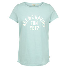 Buy Fat Face Fun Graphic T-Shirt, Green Online at johnlewis.com